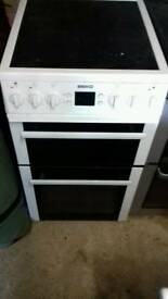 beko 60cm electric double oven/grill free nn delivery 3 months warranty