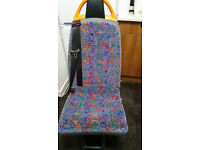 2 Single Minibus Seat with Headrest and Seatbelt