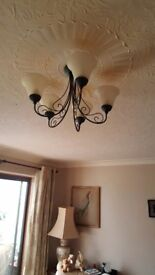 Ceiling light as good as new coast me new £75 for quick sale £6 only or even give me offer i ca t