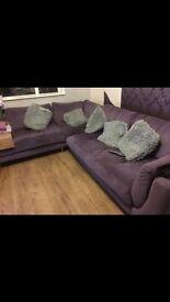 Purple corner sofa *free*