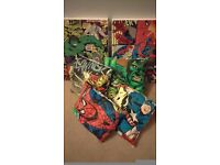 Marvel comic strip prints / pictures on wood with 4 matching cushions