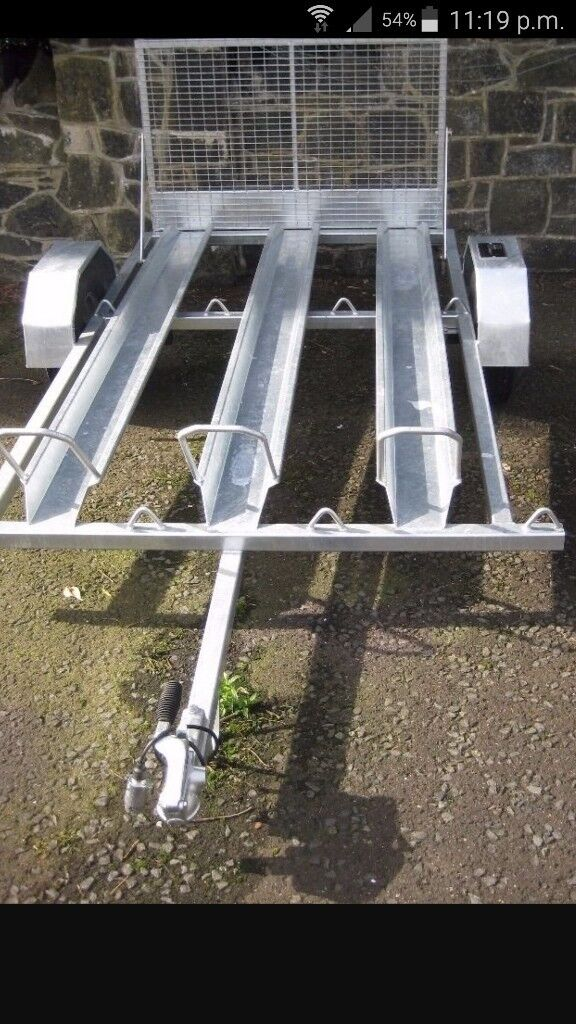 Hudson 3 motorbike trailer galvanised brand new