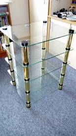 Stereo glass shelf stand