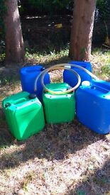 5 containers suitable for oil or fuel + free widget .