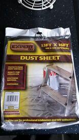16 Extra Large Polythene Dust Sheets. 4mx5m (13' x 16')