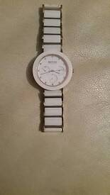 Bering watch white ceramic rose gold and white