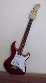 Yamaha Pacifica with Amp, Lead & Strap