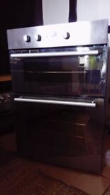 hotpoint double oven stainless steel model: dy46x