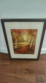 Dark wood framed print, perfect condition