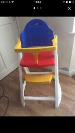 Baby's high chair hardly used