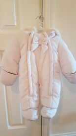 Brand new Jasper Conran dusky pink snowsuit