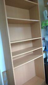 LARGE BOOKCASE BOOK SHELVES STORAGE UNIT adjustable shelves