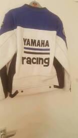 Leather yamaha jacket