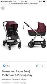 Mamas and papas sola mx2 complete pushchair package