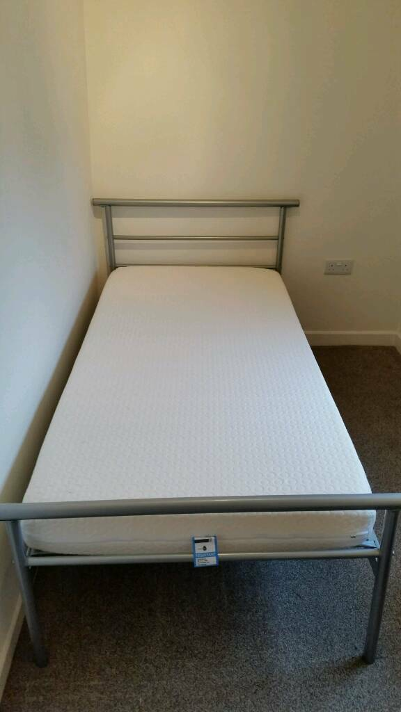 Single bed - silver coloured