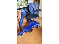 mobility scooter invacare electra carry 18 stone 12 miles to charge 4 mph comes