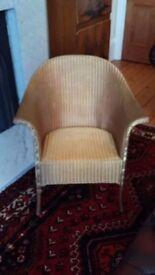 Armchair - genuine Lloyd Loom - Gold