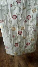 Pair of pretty fully lined crinkle curtains