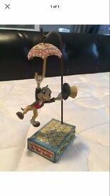 Jim shore, Disney traditions jiminy cricket hanging with mini draw