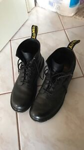 Dr. Martens black leather boots