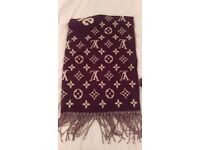 100% Authentic Louis Vuitton X Supreme Cashmere Monogram Scarf Brown BNWT
