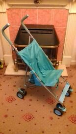 Blue stroller, buggy, trolley, easy fold away, good for getting on & off buses with. £4 failsworth