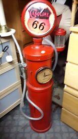 Vintage American Style Petrol Pump Cd/Dvd Storage