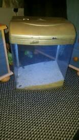 Fish tank and sand