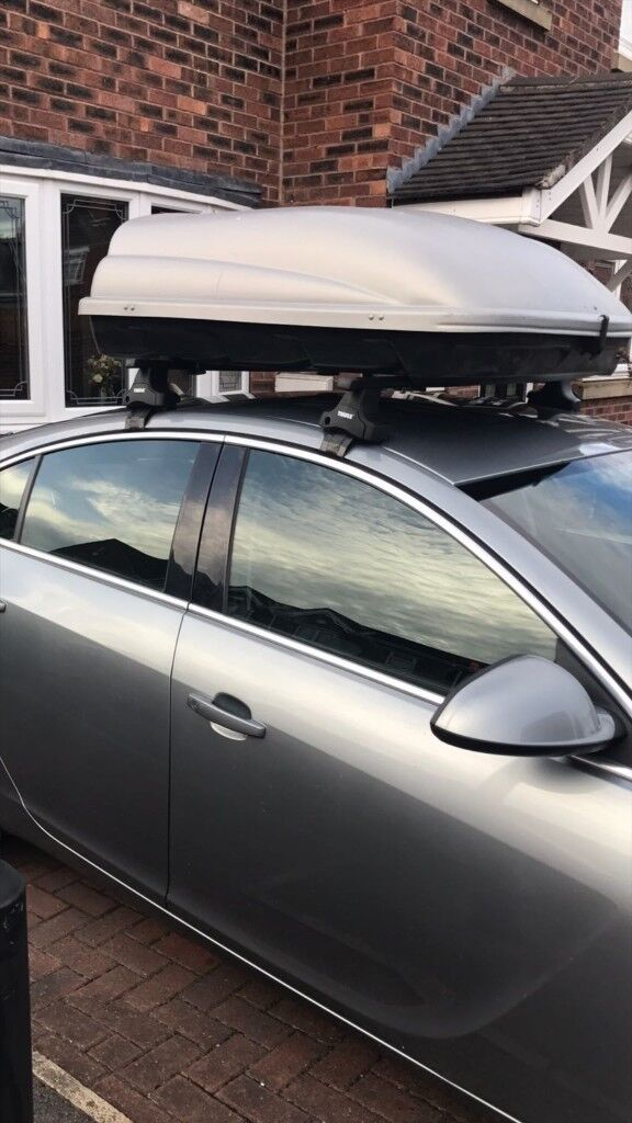 Thule Roof Bars And Halfords Roof Box Was On A Insignia