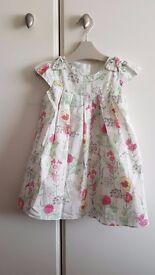 Baby Girl Dress (12 to 18 months) - Brand: Rocha. Little Rocha - White/Flowers – £4