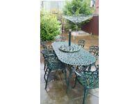 Cast Iron Garden Furniture needs slight restoration