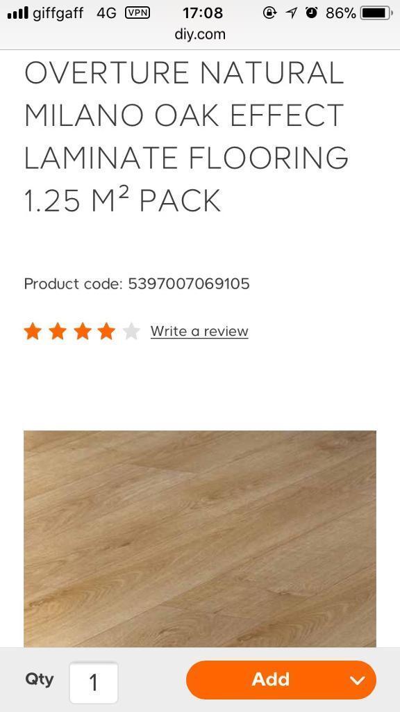 15 Packs Of Milano Oak Effect Laminate Flooring