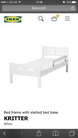 Children's IKEA white bed