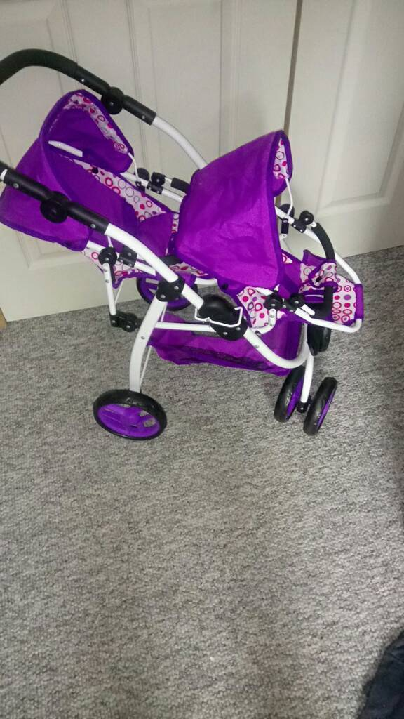 Kids double seater pushchair