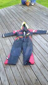 Flotation suit in excellent condition, size xxl