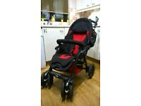 Jane Nomad Pram Stroller Pushchair with footmuff and rain cover. Excellent Condition