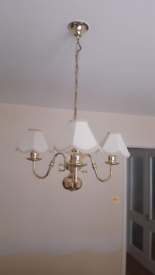 Ceiling light fitting and shades £15