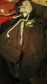 Abercrombie Zip Top - Muscle Fit Small