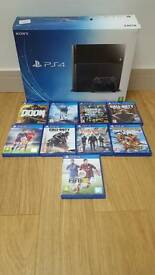 Playstation 4 with games all boxed