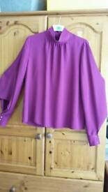 Amethyst blouse size 14