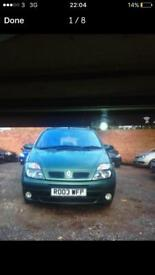 2003 RENAULT MEGANE SCENIC 1.9 DIESEL-AUTOMATIC-LEATHER SEATS-ŁÓW MILEAGE FOR MORE INFO 07933057452
