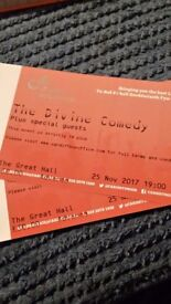 DIVINE COMEDY X2 TICKETS CARDIFF 25.11.17
