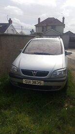 2001 Vauxhall zafira for sale to be used for parts, for full pump has given up on it