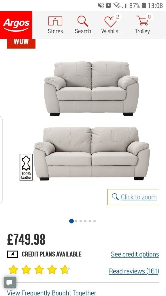 Fabulous Argos Home Milano Leather 2 3 Seater Sofas Light Grey In Ilford London Gumtree Pdpeps Interior Chair Design Pdpepsorg