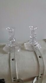 Waterford cystral candle holders