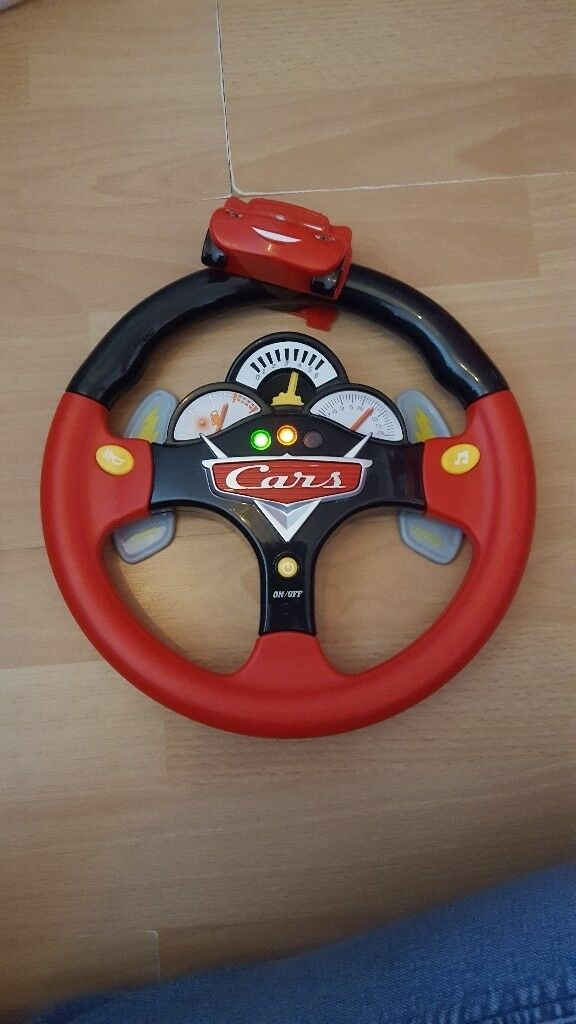Disney Cars lights and sounds steering wheel