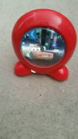 Disney lightning mcqueen car alarm clock