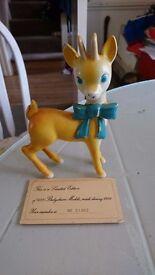 Original 'Limited Edition' Ceramic Babycham Bambi