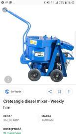Creatangle Mixer for Wet Pour