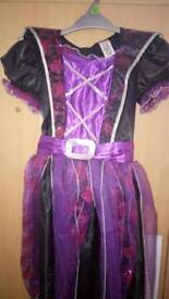 GIRL'S WITCH COSTUME WITH MATCHING HAT FOR SALE